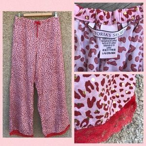 Victoria's Secret Animal Print Lace Pajama Pants